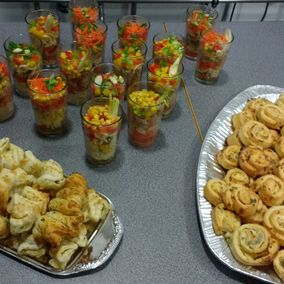Catering mit leckeren Snacks